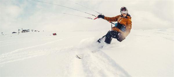 Snowkite - vi lär dig surfa i fjällen