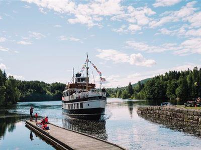 Halvdagstur: Ulefoss-Lunde-Ulefoss (båt først)