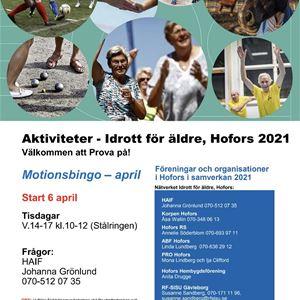 Aktiviteter - Idrott för äldre - Motionsbingo