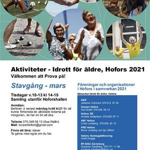 Aktiviteter - Idrott för äldre - Stavgång