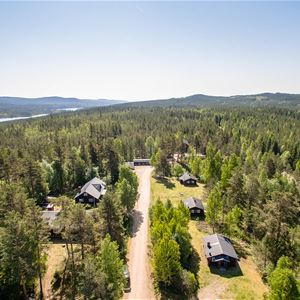 Flygbild över Tyngsjö vildmark.