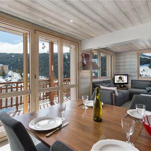 4 pièces 4 adultes et 4 enfants skis aux pieds / LA RESIDENCE 1650 4B (Montagne de Charme) / Séjour Sérénité