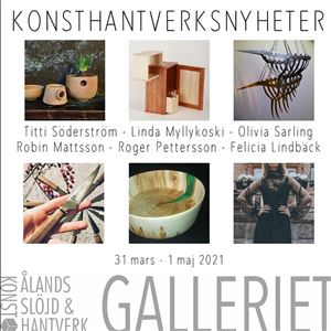 Ahvenanmaalaisia taidekäsitöitä Gallerietissa Maarianhaminassa