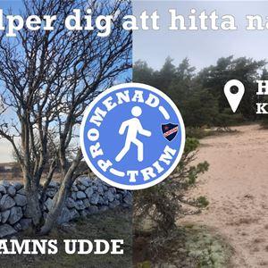 Bilder från Högasand och Torhamns udde samt promenadtrims logga