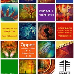 © Copy: Härke konstcentrum, Fyrkanter med olika konstverk