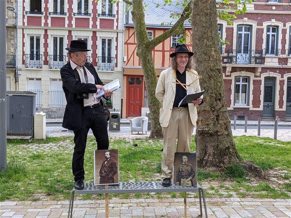 """Visite théâtralisée """"Bouilhet-Flaubert, joyeux bicentenaire les compères !"""""""
