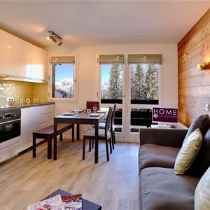 2 1/2 rooms, 4 people ski-in ski-out / Les Brigues 450 (Mountain)