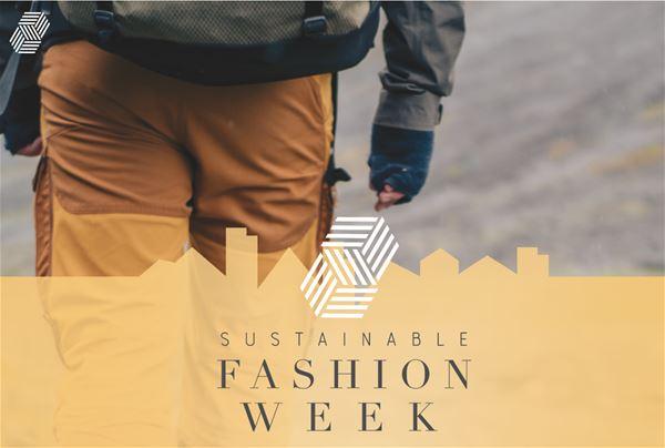 © Copy:  Sustainable Fashion Week, En man med friluftskläder som går