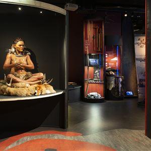 Ylwa Moritz,  © Trelleborgs Museum, buried 7,000 years ago sitting on deer antlers