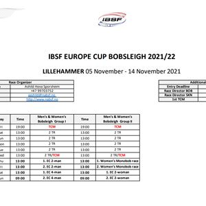 Europa cup bobsleigh