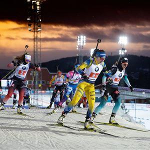 Fot: Biathlon,  © Copy: Biathlon Östersund, Världscupen Skidskytte 2021