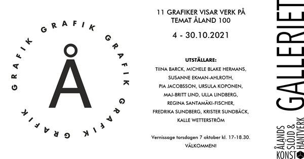 Utställning: 11 grafiker visar verk på temat Åland 100 på Galleriet