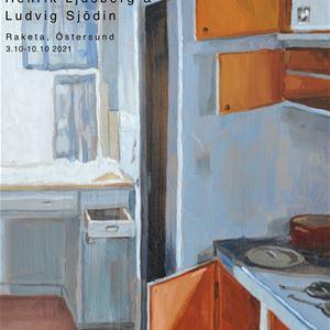 © Copy: Henrik Ljusberg, En målad tavla som visar ett äldre kök
