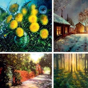 © Copy: https://www.facebook.com/Galleri-Renee-164500296924693, Målade tavlor med motiv från skog och hus