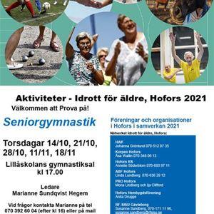 Aktiviteter - Idrott för äldre - Seniorgymnastik