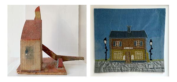 © Copy: https://bildkonsten.se/bildkonsten/regionens-konst/primusrummet.html, Träskulptur Primus Mortimer Pettersson och textil Anna i Höge