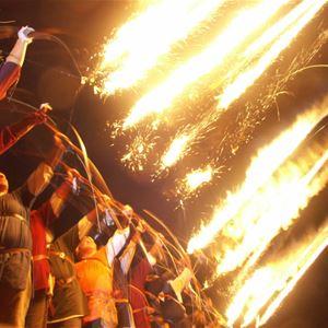 Lojsta slott - Knights night in the light of flames -7th July