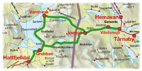© Hemavan Tärnaby PR-förening, Jovattnets dalgång, med Krutfjellsvegen
