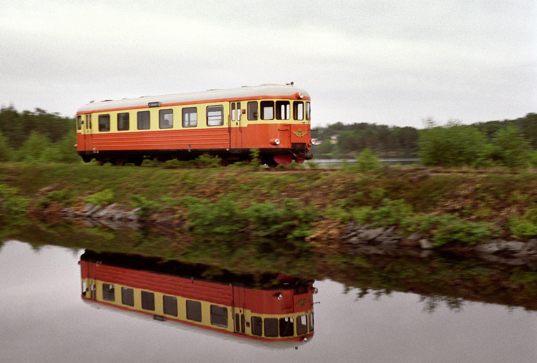 Narrow-gauge railway between Västervik and Hultsfred
