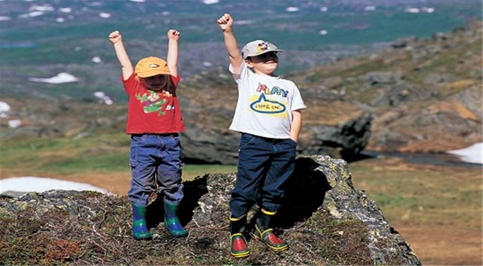 Vandra med barn i Laponia - Saltoluokta