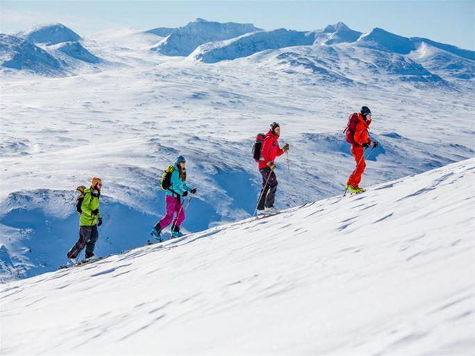 Jämtland - Skitouring Snasahögarna